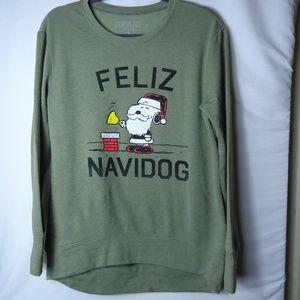 Peanuts Holiday Feliz Navidog Snoopy LS Sweatshirt